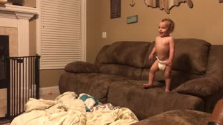 1,2,3 baby takes a leap.  - Video