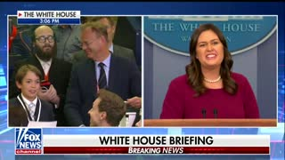 Sarah Sanders is left emotional after teen reporter's question about school shootings - Video