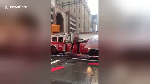 Helicopter crash in Manhattan creates chaos on 7th Ave