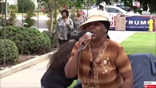 Local black woman protests Maxine Waters