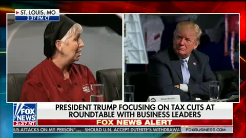 Woman Meets Trump, Breaks Down Crying While Thanking Him For Tax Cut Related Bonus She Received