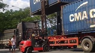 Container Transport in Vietnam - Video