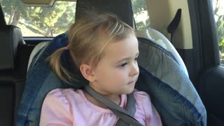 Little girl struggles to remember what happened at school - Video