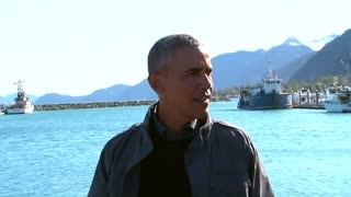Obama takes a boat tour of Kenai Fjords Park in Alaska - Video