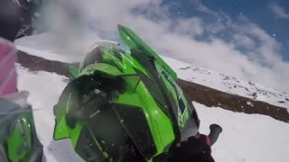 Collab copyright protection - gopro snowmobile falling video  - Video