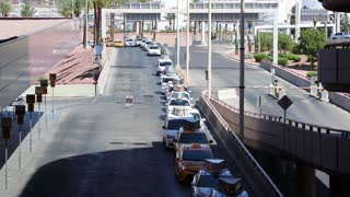 Taxi line at the Las Vegas International Airport.