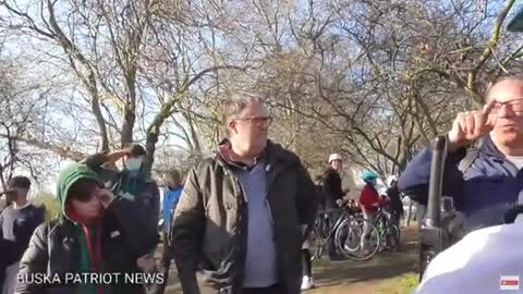  Bob and Steve at bishop's green Fulham anti lock down protest