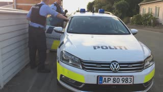 Danish Police Arrest Woman - Video