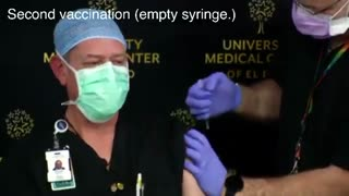 """Doctor"" uses an empty syringe to fake giving COVID vaccine to ""nurse"""