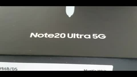 Unboxing Samsung note 20 ultra