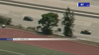 CHP Pursuit of Suspected Stolen Vehicle Near Pasadena