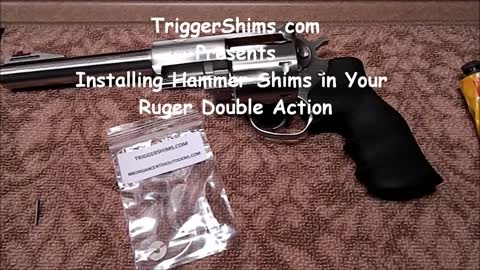 Ruger Double Action Revolver Hammer Shim Installation