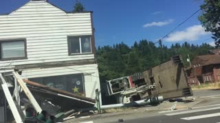 Store Front Demolished by Dump Truck