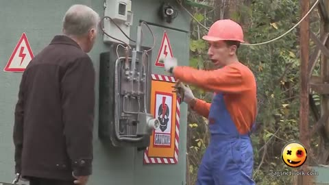 The Funny Electrician Electrocution Ever Seen