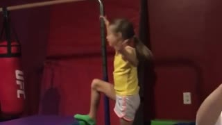 Collab copyright protection - girl yellow shirt hits face on pole