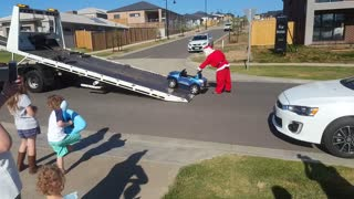 Santa Brings Out the Heavy Machinery - Video