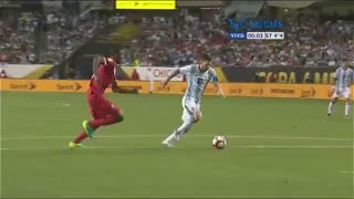 Leo Messi came on in the second half and scored a hattrick in 27 minutes for Argentina. - Video