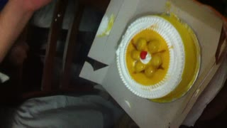 At last Birthday cake cutted - Video