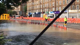 Kennington Road Water Main Break - Video