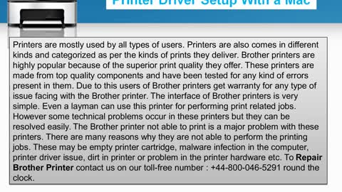 Steps to Fix Brother Printers common problems|+44-800-046-5291