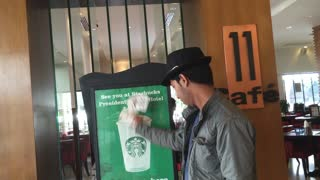Magic Tricks At Starbucks - Video