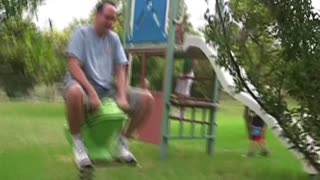 These dads are too big for the playground - Video