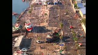 Aerial video shows quake devastation on Coquimbo coastline - Video