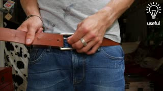 How to tie a belt that's too long - Video
