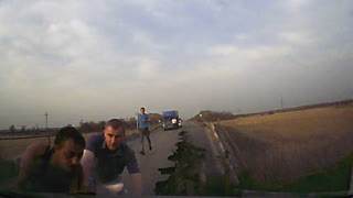 Check Out This Dashcam of a Russian Bridge Falling - Video