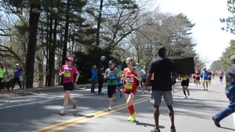 Free Hugs at the 2014 Boston Marathon