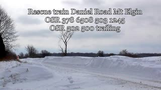 Ontario Southland Railway Snow Plow Run 2-18-2014 - Video