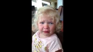 Adorable toddler doesn't want a baby brother - Video