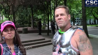 Interview With Based Spartan At Portland Pro Trump #FreeSpeechPDX Rally
