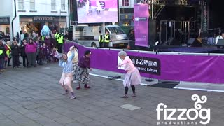 Fizzog's Dancing Grannies strut their stuff in Stafford - Video