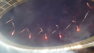 Fireworks at Cape Town 7's - Video