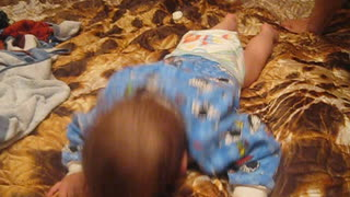 Funny baby after bathing - Video