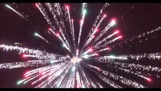 Drone Footage of Fireworks Display - Video