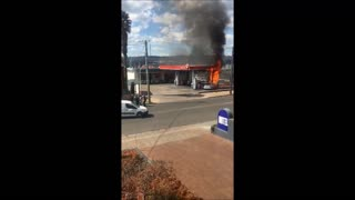 Civilians Rush To Save Accident Victims From A Burning Gas Station - Video