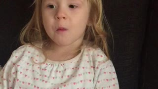 Little girl has her mind blown by peppermint gum - Video