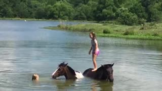 Two Best Friends and Their Horses - Video