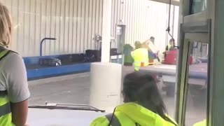 Aggressive Baggage Handler - Video