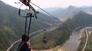 Gopro footage from Koreas Biggest zipline