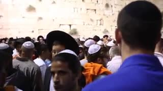 cultures from around the world - Jews pray at the Western Wall Selichot prayers 2 - Video
