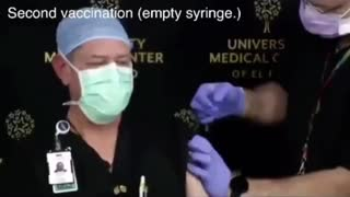Docs fake vaccine injections.