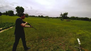 My Son Shooting Clay Pigeons