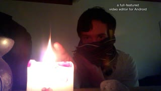 Crazy psychic controls fire - Real life fire bending - Video