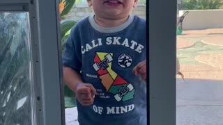Toddler Thinks Sliding Door Dilemma Sucks