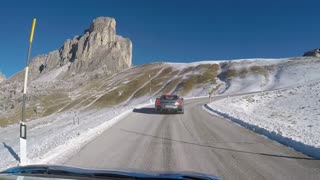 Ferrari Powerslides in the Dolomites - Video