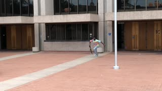Skater Climbs Staircase in Style