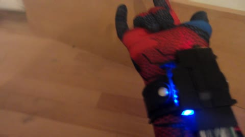 Spider-Man inspired burning wrist laser